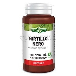 Erba Vita Mirtillo Nero Integratore per Circolazione e Gambe 60 Capsule