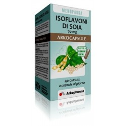 Arkocapsule Isoflavoni Di Soia Integratore per Donna in Menopausa 40 Capsule