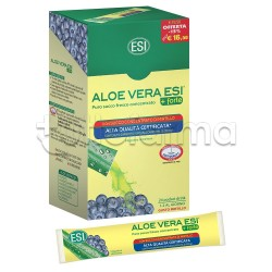 ESI Aloe Vera Succo +Forte con Mirtillo Pocket Drink 24 Bustine