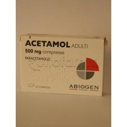 Acetamol Adulti 20 Compresse Paracetamolo 500 mg