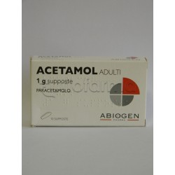 Acetamol Adulti 10 Supposte Paracetamolo 1 gr