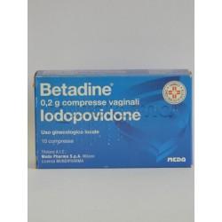 Betadine 10 Compresse Vaginali Disinfettanti 200 mg