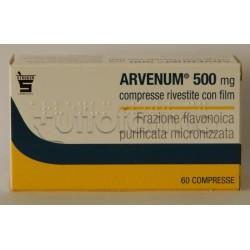 Arvenum 60 Compresse Rivestite 500 mg per Gambe Pesanti o Emorroidi