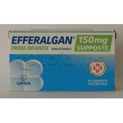 Efferalgan Prima Infanzia 10 Supposte 150 mg Paracetamolo