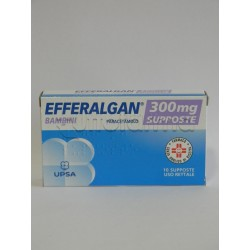 Efferalgan 10 Supposte Bambini 300 mg Paracetamolo