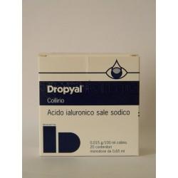 Dropyal Collirio Monodose Idratante e Lubrificante 20 Monodosi 0,65 ml