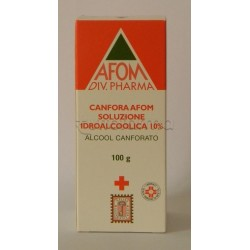 Canfora Afom 10 % Soluzione Idroalcolica 100 ml