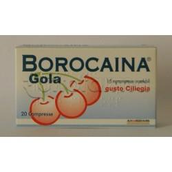 Borocaina Gola 20 Pastiglie 1,5 mg Ciliegia per Mal di Gola