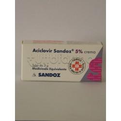 Aciclovir Sandoz Crema 3 grammi 5% per Herpes