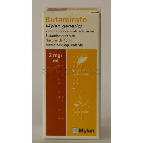 Butamirato Mylan Generics Gocce 15 ml Sedativo della Tosse
