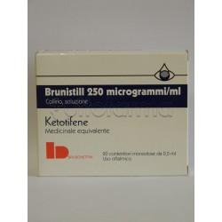 Brunistill Collirio Monodose 20 Flaconcini 0,5 ml 0,025 mg per Occhi Allergici