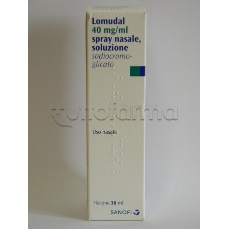Lomudal Spray Nasale 30 ml 4 mg/ ml + Nebulizzatore per Riniti Allergiche