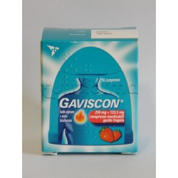 Gaviscon 16 Compresse Masticabili Fragola 250 +133,5 mg per Bruciore di Stomaco e Reflusso