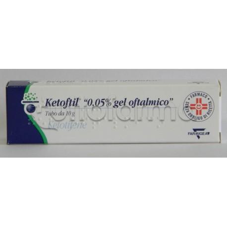 Ketoftil Oftalmico Gel 10 gr 0,05% per Occhi Allergici