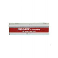 Micotef Gel Orale 40 gr 2% per Micosi Orali