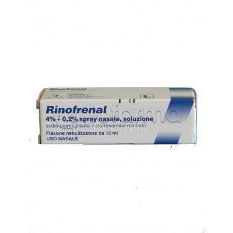 Rinofrenal Spray Nasale Flacone 15 ml Decongestionante per Liberare Naso Chiuso