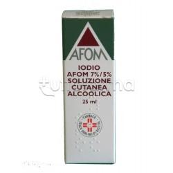 Tintura Iodio Afom 25 ml Disinfettante per Pelle