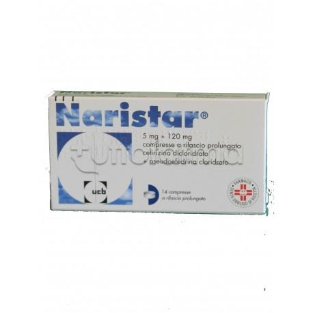 Naristar 14 Compresse 120 mg + 5 mg Rilascio Prolungato