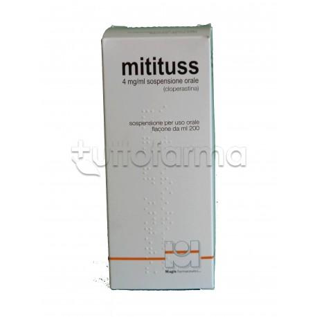 Mitituss Sospensione Orale 200 ml 4 mg/ml Sedativo della Tosse