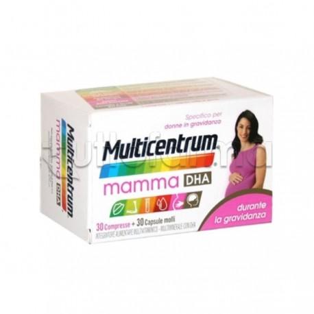 Multicentrum Mamma DHA Integratore per Gravidanza 30 Compresse + 30 Capsule Molli