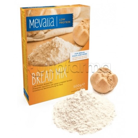Mevalia Bread Mix Preparato Aproteico 500g + Lievito 10g