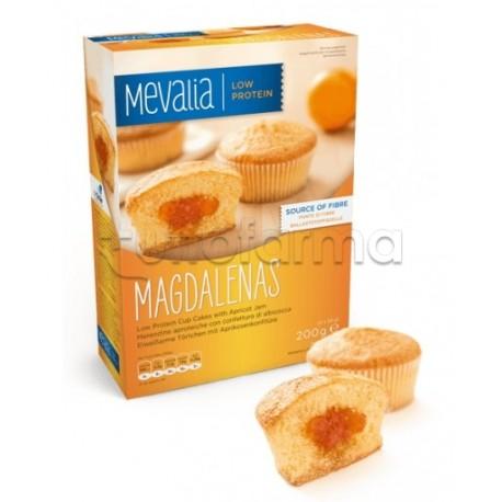 Mevalia Magdalenas Merendine Aproteiche Con Confettura Di Albicocca 200g (4x50g)