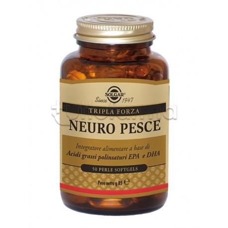 Solgar Neuro Pesce Integratore per Cuore Cervello e Vista 50 Perle
