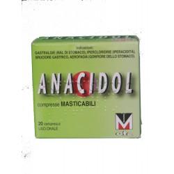 Anacidol 20 Compresse Masticabili Tubo per Acidità di Stomaco