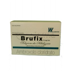 Brufix Soluzione per Aerosol 20 Flaconcini Mucolitico per Tosse e Catarro