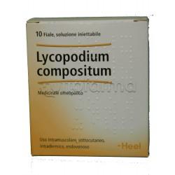 Lycopodium Compositum Heel Guna 10 Fiale Medicinale Omeopatico 2,2ml