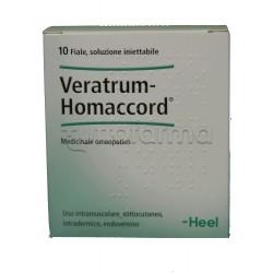Veratrum Homaccord Heel Guna 10 Fiale Medicinale Omeopatico 1,1ml