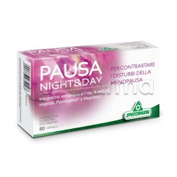 Specchiasol Pausa Night & Day Integratore per Disturbi Menopausa 80 Capsule