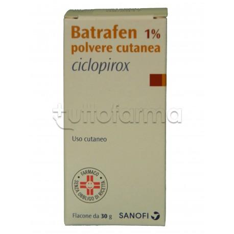 Batrafen Polvere Cutanea Antimicotica per Funghi 30 gr 1%