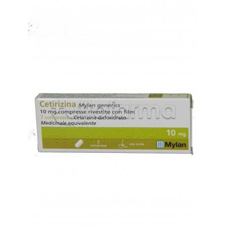 Cetirizina Mylan Antistaminico 7 Compresse Rivestite 10 mg