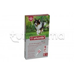 Advantix Antiparassitario per Cani da 10 kg a 25 kg 4 Pipette Spot-On
