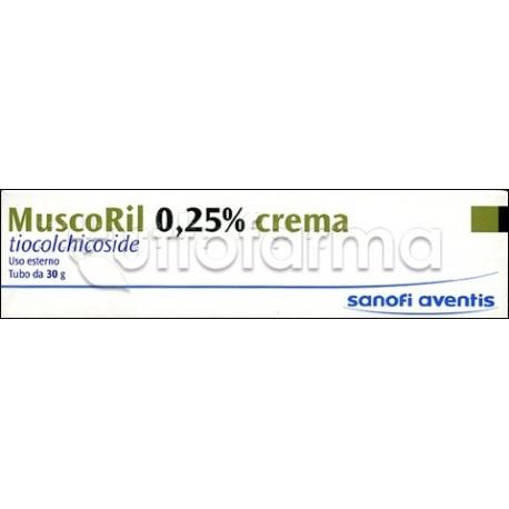 Muscoril Contratture e Dolore Crema 30 gr 0,25%