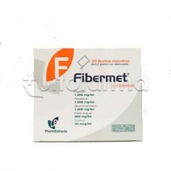 Fibermet Integratore per Dimagrimento e Colesterolo 20 bustine