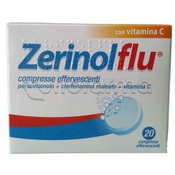 ZerinolFlu per Influenza e Raffreddore 20 Compresse Effeverscenti
