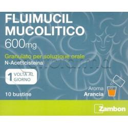 Fluimucil 600 per Tosse e Catarro 10 Bustine Gusto Arancia