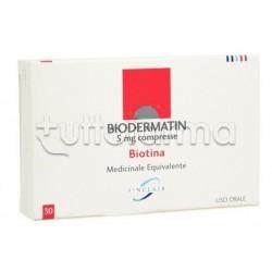 Biodermatin 30 Compresse 5 Mg Biotina