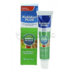 Kukident Doppia Protezione Crema Adesiva per Dentiere AntiBatterica Anti-Infiltrazioni 40 gr