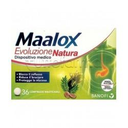 Maalox Evoluzione Natura per il reflusso gastrico - 36 compresse masticabili