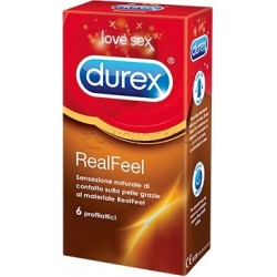Durex Real Feel 6 Profilattici Non in Lattice