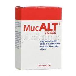 MucAlt TC 600 Integratore per le vie respiratorie 20 Buste