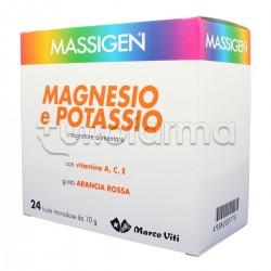 Massigen Integratore Magnesio e Potassio con Vitamine 24+6 Buste