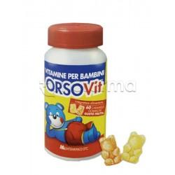 Orsovit Caramelle Gommose con Vitamina C 60 Orsacchiotti Gusto Frutta