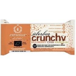 Ambrosiae UberBar Crunchy Mulberry Chia Vaniglia Barretta Nutriente 38g