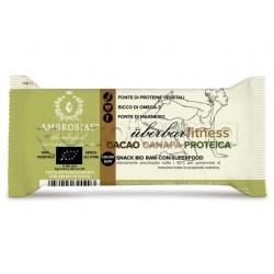 Ambrosiae UberBar Fitness Cacao Canapa Proteica Barretta Proteica 35g