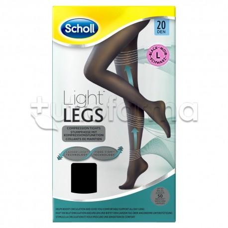 Scholl Light Legs Collant Contenitivi 60 Denari Nero Taglia S
