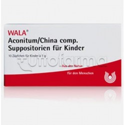 Wala Aconitum China Compositum Medicinale Omeopatico per Bambini 10 Supposte